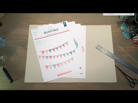 How to make Christmas bunting - papercraft activity