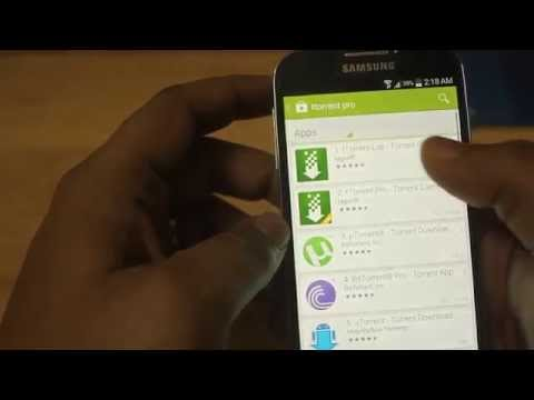 How to download Torrent on Mobile (Samsung galaxy S4)