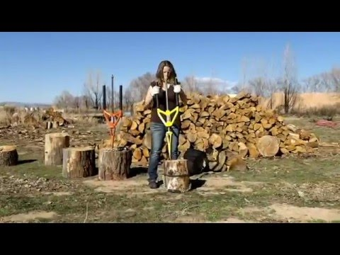 Splitting wood has never been SAFER Safe innovative way to quickly split firewood - Good N Useful