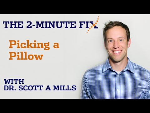 Picking a Pillow: The 2 Minute Fix
