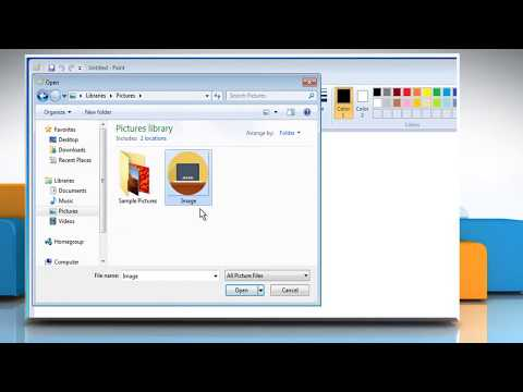 How to add two pictures side by side in Microsoft® Paint