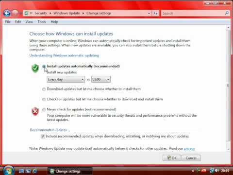 07 - Configuring Windows Updates for a Particular Time.avi