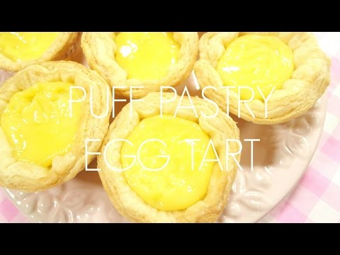 FLUFFY PUFF PASTRY EGG TARTS