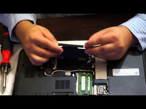 How to swap a hard drive in a Laptop