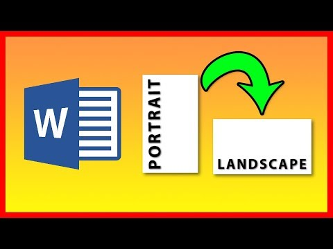 How to type in Landscape mode in Word 2016 / 2019 - Tutorial