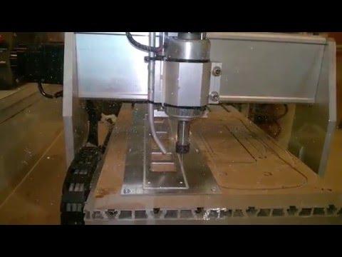 CNC 3040 machining a 2mm aluminum t-rex 600 bottom plate