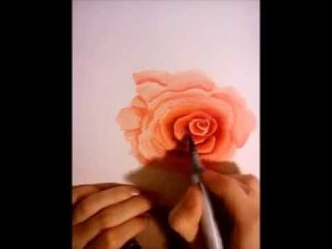 Speed Drawing: Drawing a rose with COPIC markers