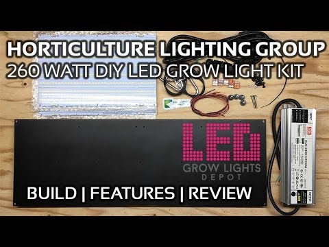 Horticulture Lighting Group 260 watt DIY LED Grow Light Kit Build and Review
