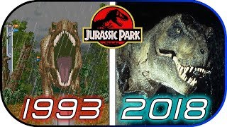 EVOLUTION of JURASSIC PARK Games in 5 minutes (1993 - 2018) gameplay & graphic world