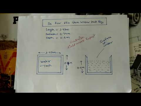 How to calculate rectangle water tank Size and Capicity | Water Tank Calculation