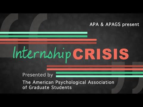 The psychology internship crisis