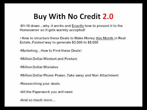 How To Buy A House Bad Credit or Buy a House with No Credit