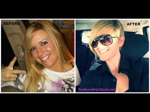Before and After : Long Blonde Hair to Pixie Cut