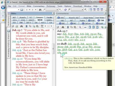 Cross-referencing with the Treasury of Scripture Knowledge
