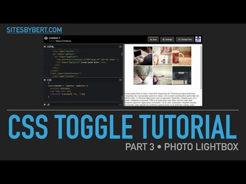 03 CSS Toggle Tutorial • Photo Lightbox