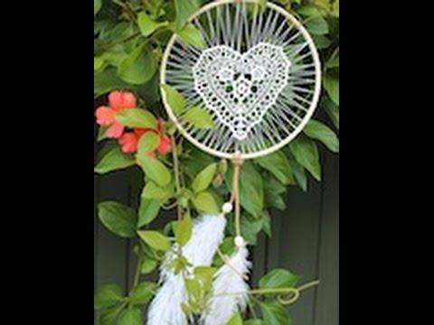 DIY heart doily dreamcatcher