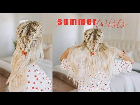 Twisted Hairstyle for Summer | Medium Length Hair