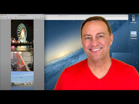 Combine photos vertically in Mac Preview