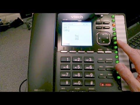 vtech ErisTerminal VSP736A VoIP Phone - Hands on demonstration.