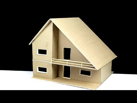 How to Make a Cardboard house(with dimensions)very easy