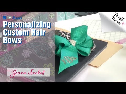 Personalizing Custom Hair Bows with Silhouette Cameo | Craft Corner