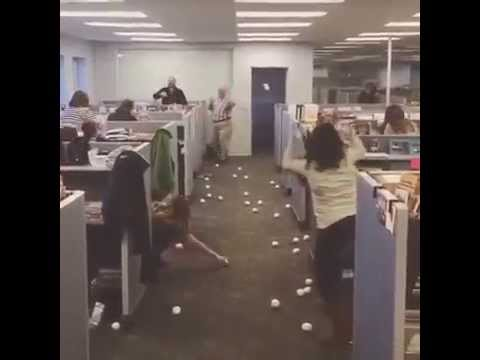 Snowball Fight at The Paper Store