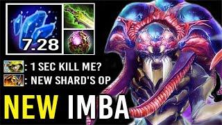NEW CANCER HERO MID 7.28 Shard Nyx Most Imba Vendetta 1 Sec Kill Enemy -60% Magic Res WTF Dota 2
