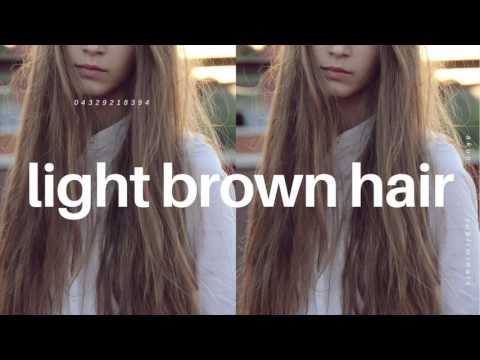 Change Your Hair Color to Light Brown Fast Subliminal
