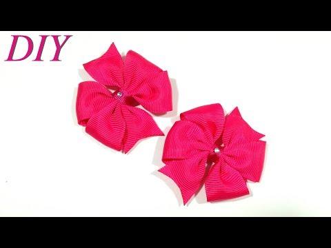 How To Make Hair Bows 🎀 DIY #192 Grosgrain Ribbon Mini Bows Tutorial