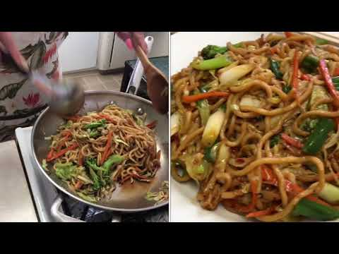 How to make vegetables chow mein/Naly's kitchen.