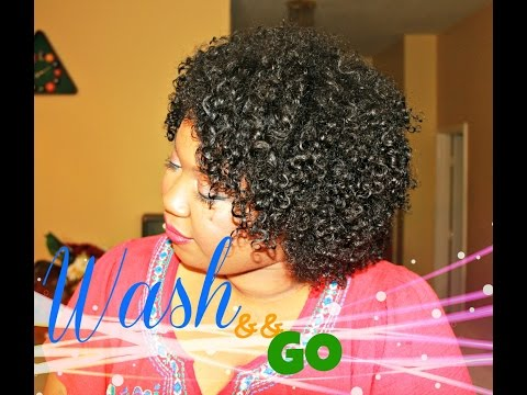 Eboni's Wash and Go  CG METHOD