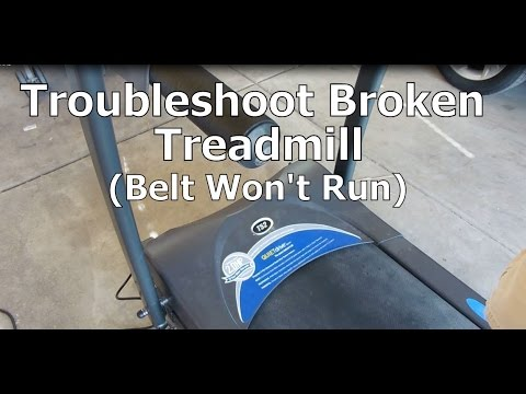 Troubleshoot a Broken Treadmill That Won't Run