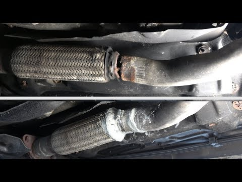 Broken exhaust pipe repair (easy repair WITHOUT DISMANTLING)