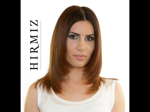 LAYERED HAIR CUT USING THE HIRMIZ LEVEL CUTTING COMB