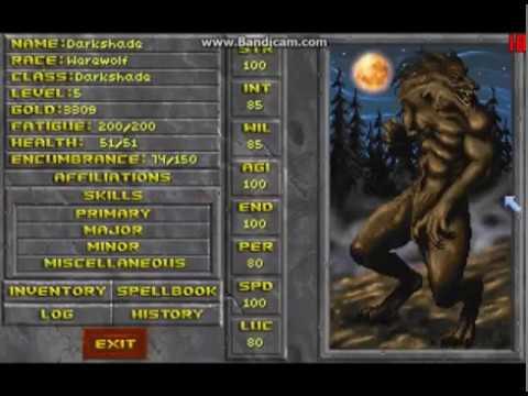 Daggerfall - Vampire, werewolf & wereboar