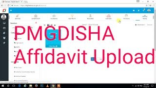 Pmg Disha Affidevit Upload Solution