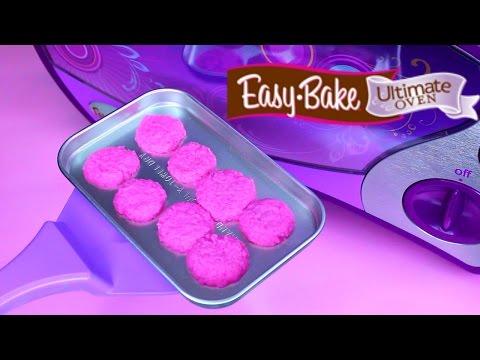 Easy Bake Oven Baking Pink Sugar Cookies