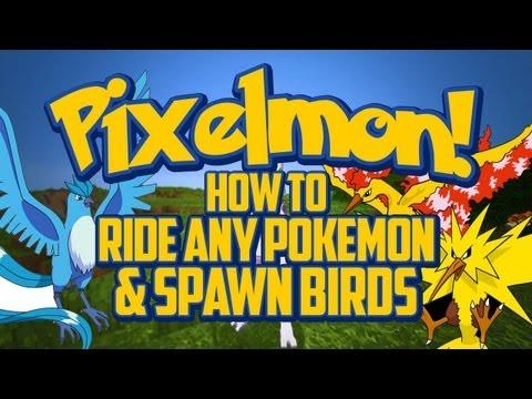 Pixelmon Tutorial - How to Ride Any Pokemon & Spawn the Legendary Birds