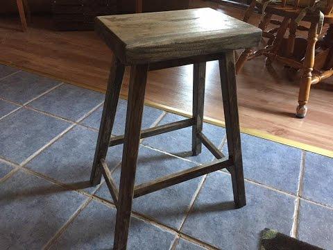 Handmade Small Stool - Bench DIY