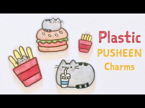 DIY Plastic Pusheen Charms & Fast food