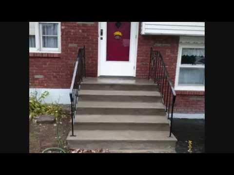 Quick Concrete Stair Makeover-  For Stairs With Minor Wear & Tear!
