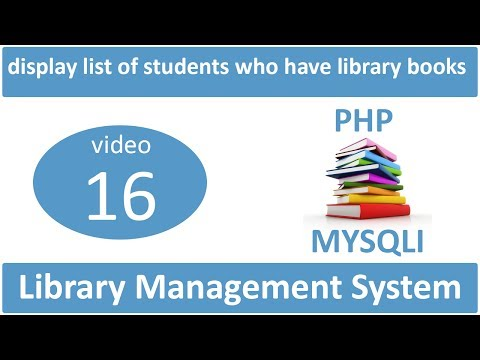 display the list of students who have particular title books in LMS