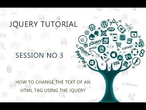 JQUERY TUTORIAL FOR BEGINNERS   3   HOW TO CHANGE THE TEXT OF AN HTML TAG USING THE JQUERY