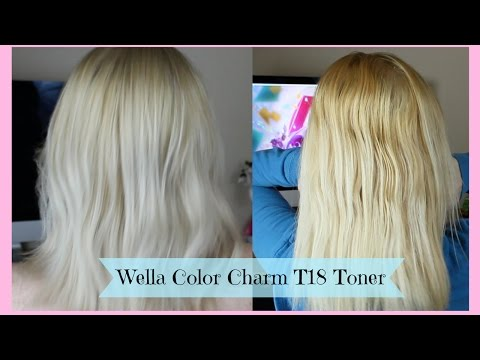 Toning Blonde Hair | Wella Color Charm T18 Toner