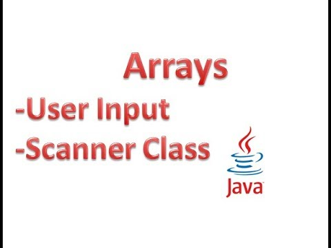 User input in arrays using Scanner class - Hindi