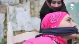 Women hair covered gagged