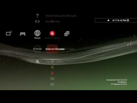 How to assign static IP to PS3 using ICS