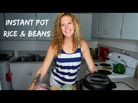 INSTANT POT BLACK BEANS & RICE | VEGAN