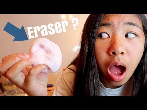 DIY ERASER SLIME ?? WHAT !!
