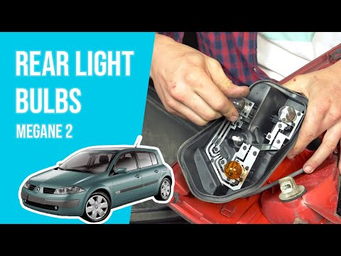 [ TUTORIAL RENAULT MEGANE 2 ]  How to change the tail lightbulbs